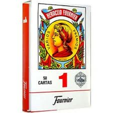 Fournier 1-50 Red Spanish Playing Cards
