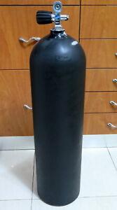 ALUMINUM SCUBA TANK CYLINDER WITH VALVE 3AL3000 BLACK
