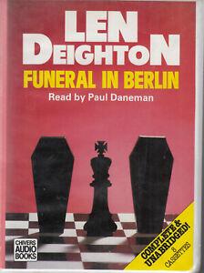 Len Deighton Funeral In Berlin 8 Cassette Audio Book Unabridged Spy Thriller