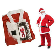 Santa Suit Father Christmas Red Coat Fancy Dress Pack Adults For Him or Her Xmas