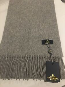 Royal Grey 100% Pure Cashmere Scarf Solid Long Wrap Mens Woman's Winter Warm New