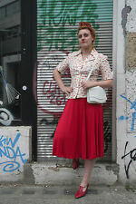 Damen Bluse kurzärmlig Sommer 70s TRUE VINTAGE sassy blous cool textil design