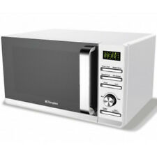 Dimplex 980537 23 Litre 900W 5 Power Levels White Microwave Oven Steel Interior