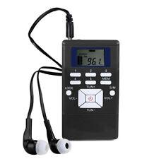 Portatile Digital DSP Stereo FM Radio Mini Pocket Clock Ricevitore w/Cuffie I2Z1