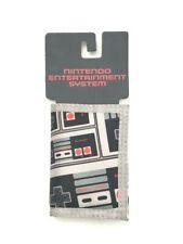 Nintendo Controller Tri-Fold Nylon Canvas Wallet Chain Grommet Hole Gray Age 14+