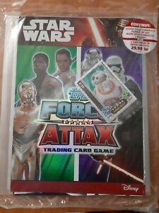 STAR WARS FORCE ATTAX :THE FORCE AWAKENS starter pack album