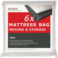 6 Twin Mattress bags for moving, High Quality Disposal Sealable Plastic matress