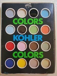 1970's Kohler Tile vintage Color Samples for bathtubs and sinks MCM colors