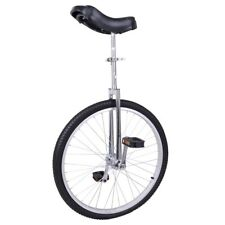 "24"" Wheel Skid Proof Butyl Tire Unicycle Outdoor Cycling Chrome Frame Exercise"