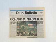 Daily Bulletin  Newspaper  REPUBLICAN Richard M Nixon RIP