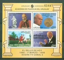 Uruguay 1996 - Block 71 - Robert Stolz Komponist - Rabin - Fußball - Nobelpreis