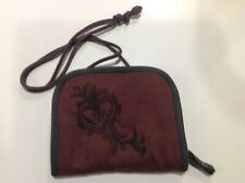 """REI Hailey 5x6"""" Zip Around Cross Body Shoulder Starp Travel Wallet Embroidered"""