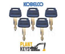 Kobelco K250 (Set of 5) Excavator Keys New Holland Kawasaki Wheel Loader Case