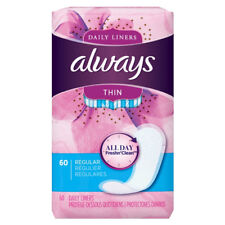 Always Thin Daily Liners, Regular 60 ea