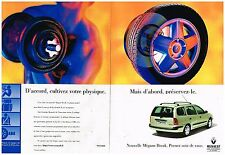Publicité Advertising 1999 (2 pages) Renault Nouvelle Mégane Break