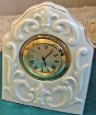 "Lenox Beautiful Fine Ivory China ""Sandhurst Table Clock"" 3 3/4""T."