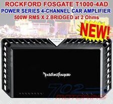 ROCKFORD FOSGATE POWER T1000-4AD 4-CHANNEL1000W RMS COMPONENT SPEAKERS AMPLIFIER