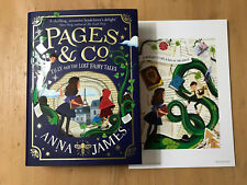 PAGES AND CO TILLY AND THE LOST FAIRY TALES + PRINT Anna James SIGNED SPRAYED