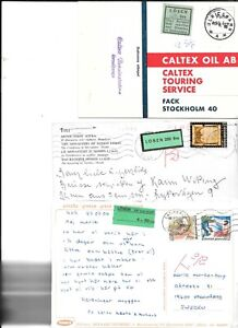Sweden selection of 19 postage due cards with LOSEN labels