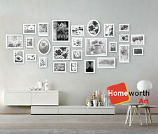 26 pcs photo picture frame wall art collection decor  frames  gift present white
