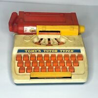 VINTAGE 1977 TOMY'S TUTOR TYPER TYPEWRITER TOY WORKS