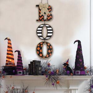 Halloween Thankful Blessed Pumpkin Boo Hanging Sign Wooden Board Home DecoraH.ji