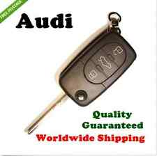 AUDI A2 A3 A4 A6 3 BUTTON Flip Remote Key Shell Case with logo