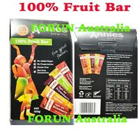 100% Fruit Bar 25Pack 500G-Five Great Flavour Made in New Zealand-Free Fast Ship