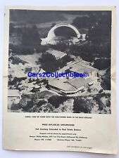 Super Rare Vintage Photo Hollywood Bowl Real Estate Listing WOW! 👍🏻