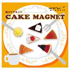 MIDORI Japanese Mini Magnet Deluxe Set - Cake Dessert ( 6 pieces )