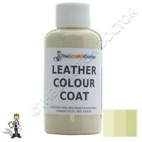 IVORY Leather Colour Coat Dye for LAND ROVER. Repair & Restore Colourant Kit