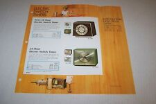 Vintage WESTCLOX electric switch timers -  ad sheet #0041