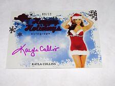 2014 Benchwarmer KAYLA COLLINS Happy Holidays Pink Foil Auto/12 PLAYBOY Playmate