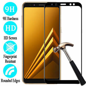 Full Cover Tempered Glass Screen Protector For Samsung A6 A8 J8 J6 J4 Plus 2018