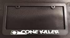Cone Killer License Plate Frame Black - Choose Color!! autox miata 240sx drift
