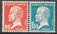 France 1923 Pasteur red 90c blue 1f.50c  mint SG400a/400d