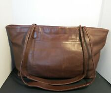 XLarge Coach 4067 British Tan Leather Shoulder Tote Bag Two Handle