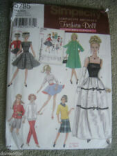 Simplicity 60s Repro Vintage Barbie Doll Clothes Pattern 5785 Skirt Pants Dress