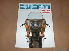 NOS Ducati 900 S2 Factory Brochure bevel twin ss FOUR page foldout