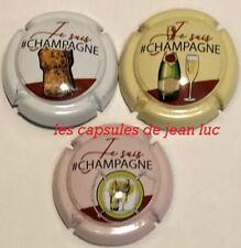 """Série de 3 nouvel/génériques-Champagne """" Je Suis Champagne """" Juin 2019"""