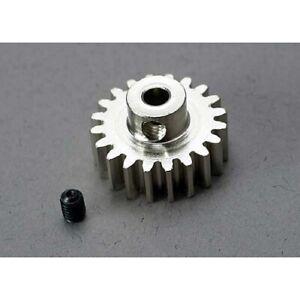 Traxxas 3950: Gear, 20-T pinion (32-p) (mach. steel)/ set screw TRAXXAS