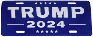 "Trump 2024 Blue 6""x12"" Aluminum License Plate USA Made"