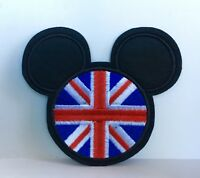 DISNEY MICKEY MOUSE UNION JACK EMBROIDERED APPLIQUÉ PATCH SEW IRON ON #185