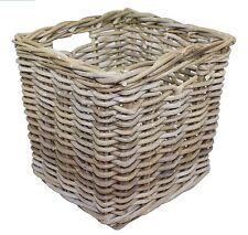 Grey Rattan Square Cube Basket / Storage / Ikea Kallax / L 30 x W 30 x H 30cm