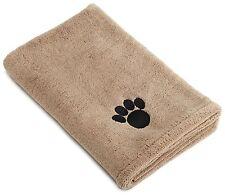 DII Bone Dry Microfiber Dog Bath Towel with Embroidered Paw Print, Large