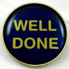 Well Done Metal Pin Badge With Brooch Fitting - Pack of 10