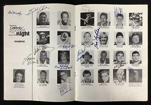 Multi Signed 21st Celebrity Sports Night Program 1987 Various Sports 26 Auto TPG