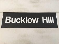 "Blackburn Destination Bus Blind Feb1996 (33"") -2     Bucklow Hill"