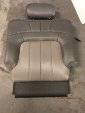 2004 Left GMC ENVOY XL 3rd Row Leather Back Seat Back W/HeadRest Shale Pewter