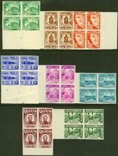 Peru 1938 2c through 2s Photogravure IMPERF BLOCKS